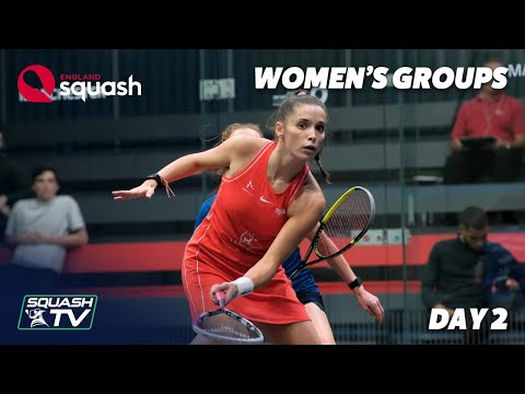 AJ Bell England Squash Challenge 2020 - Women's Groups - Day 2 Roundup