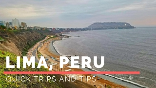 "Quick trip to Lima Peru.Tips Video: https://youtu.be/VLkXBA7jy00Instagram: Quick Trips and TipsMusic: Tobu - Colors [NCS Release] by NoCopyrightSoundshttps://www.youtube.com/watch?v=MEJCwccKWG0Lima is the capital and the largest city of Peru. It is located in the valleys of the Chillón, Rímac and Lurín rivers, in the central coastal part of the country, overlooking the Pacific Ocean. Together with the seaport of Callao, it forms a contiguous urban area known as the Lima Metropolitan Area. With a population of almost 10 million, Lima is the most populous metropolitan area of Peru and the second-largest city in the Americas (as defined by ""city proper""), behind São Paulo and before Mexico City.Lima was founded by Spanish conquistador Francisco Pizarro on January 18, 1535, as Ciudad de los Reyes. It became the capital and most important city in the Spanish Viceroyalty of Peru. Following the Peruvian War of Independence, it became the capital of the Republic of Peru. Around one-third of the national population lives in the metropolitan area."