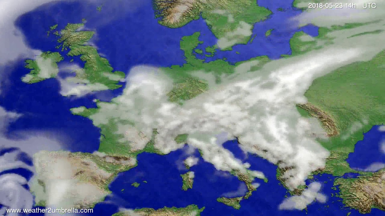Cloud forecast Europe 2018-05-19
