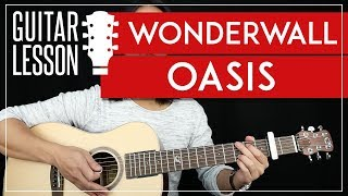 Wonderwall Guitar Tutorial - Oasis Guitar Lesson 🎸  Easy Chords + Guitar Cover 