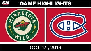 NHL Highlights | Wild vs Canadiens – Oct 17 2019 by Sportsnet Canada