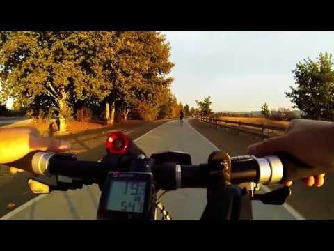 (2013J26) Bumpy ride into sunset at Lake Balboa/Woodley Park Sepulveda Basin