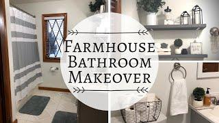✨FARMHOUSE BATHROOM MAKEOVER | DECORATE WITH ME | FARMHOUSE BATHROOM✨