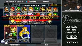 GC|Silentwolf (Fox) vs. Flash (Sheik) [from JAPAN!] – Get Smashed At The Foundry GRAND FINALS w/ commentary from HMW, DoH, and D1