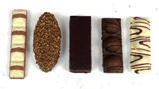 In this Selection:#1 duplo Chocnut#2 Kinder Bueno white#3 KINDER MAXI KING#4 Kinder Pingui#5 duplo Chocnut whithe