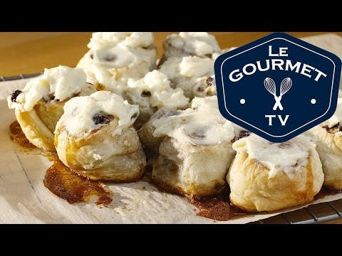 Puff Pastry Cinnamon Rolls With Cream Cheese Frosting || Glen & Friends Cooking
