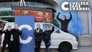 Chelsea Team Deface Arsenal Stadium
