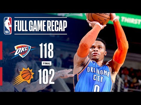 Video: Full Game Recap: Thunder VS Suns | Big 4th Pushes OKC To Win