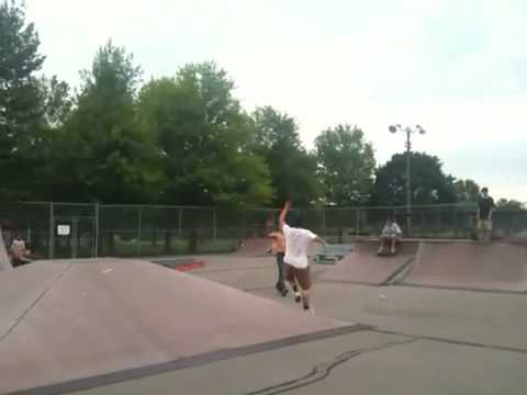 Big rock to fakie on the vert
