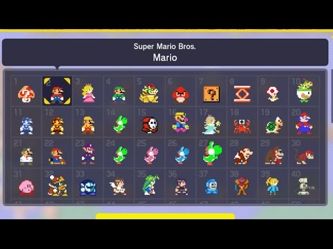 Super Mario Maker - All Current Costume Mario Outfits Unlocked (Mystery Suits)