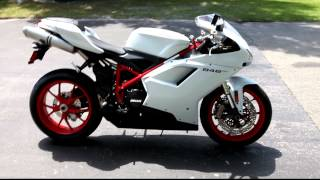 10. 2012 Ducati 848evo white with red wheels (1).MOV