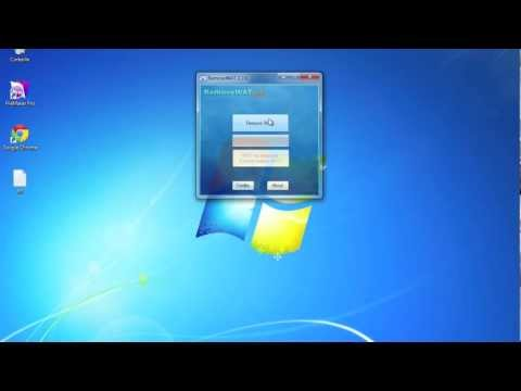 Activer Windows 7 sans clé d'activation - RemoveWat 2.2.6