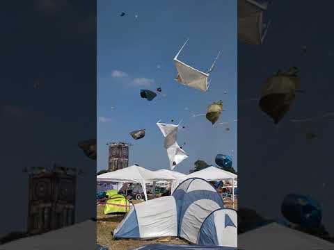 Trombi pyörittää kymmeniä telttoja festareilla – Sinne läks!