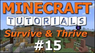 Minecraft Tutorials - E15 Pig Farm (Survive and Thrive II)