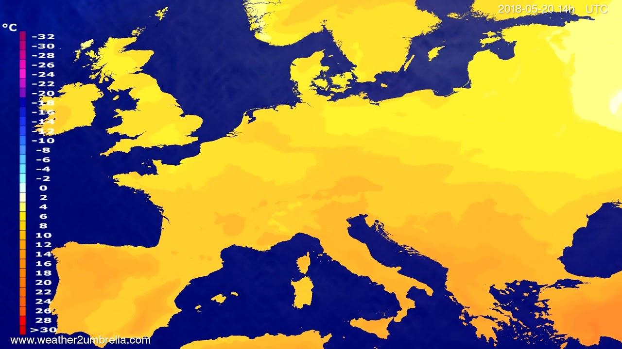 Temperature forecast Europe 2018-05-18