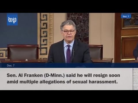 Senator Al Franken says he will resign in 'coming weeks'