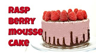 Vegan Raspberry Mousse Cake by Gretchen's Bakery