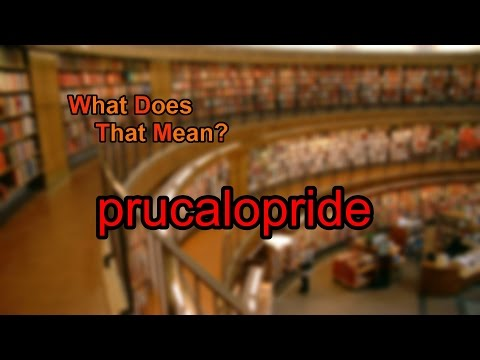 What does prucalopride mean?
