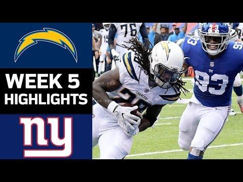 Chargers vs. Giants | NFL Week 5 Game Highlights - Thời lượng: 7:53.