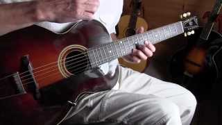 Fingerpicking Blues on a 1925 Gibson L3 archtop guitar