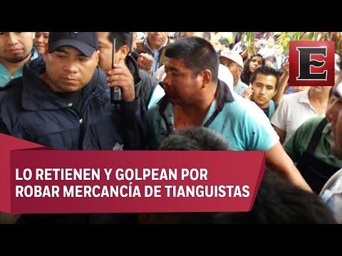 Presunto ladrón se salva de ser linchado en Hidalgo