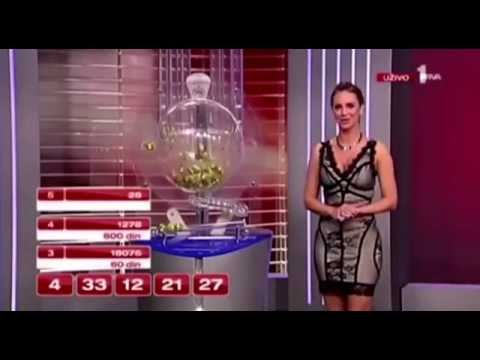 Serbian Lottery Scandal - Number Comes Up On The Screen Before Drawn