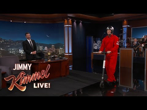 Jim Carrey's Amazing Scooter Entrance