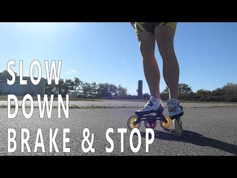 how to slow down, brake & stop with inline speed skate (pascal briand vlog 94)