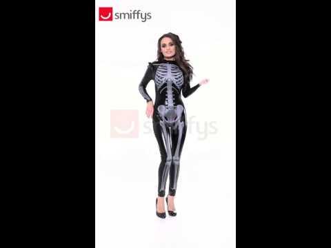 Déguisement squelette 3d pour femme
