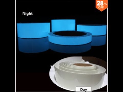 5mx15mm Luminous Tape Self-adhesive Green Blue Glowing In The Dark Safety Stage Home Decor