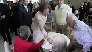 Doña Sofía preside los actos del centenario de la Real Institución Benéfica Padre Rubinos
