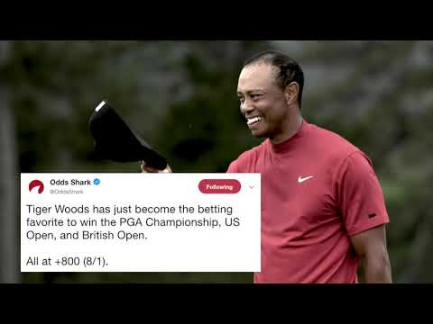 Tiger Woods favored to win PGA Championship, U.S. Open, British Open