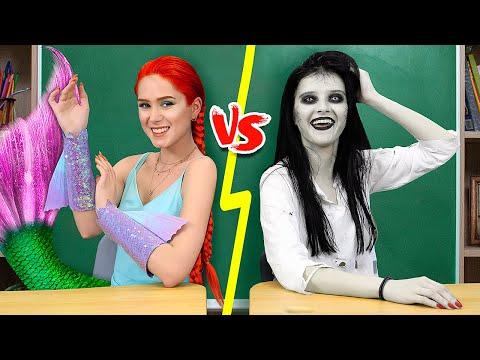 Meerjungfrau vs Zombie - 10 DIY Meerjungfrauen Schulsachen gegen Zombie Schulsachen