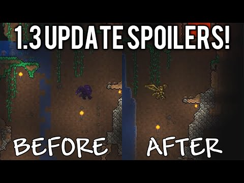 changes - New Terraria 1.3 update spoilers with some water / liquid mechanic changes making liquid flow much more natural & less blocky, new biome specific fountains, & new dye for customizing your character ...