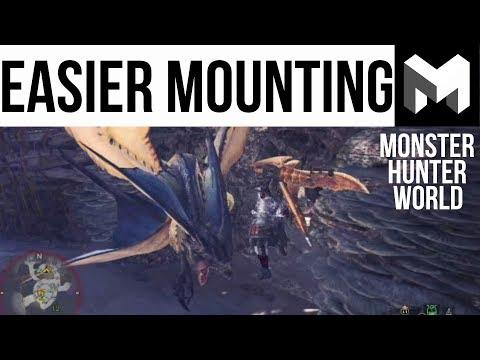 How to mount monsters easier: Monster Hunter World Guide (видео)