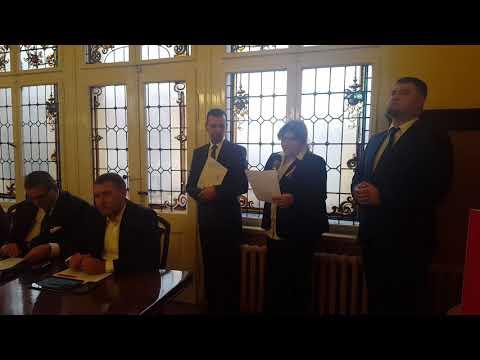 Wideo1: Ogłoszenie wyboru na starostę gostyńskiego