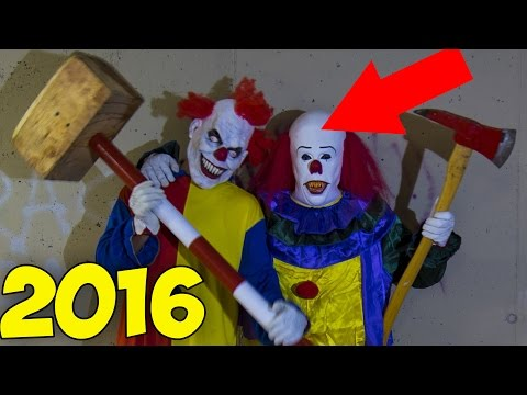NEW Top 10 Scary Creepy Clown Sightings in USA \ Canda \ UK  2016 #killerclowns