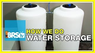 What kind of water storage tanks are the ones featured on our reef tank setups? | 52 FAQ