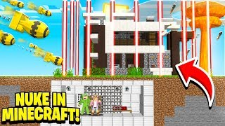 MOST SECURE BASE *Can you survive the NUKE* | Minecraft Little Kelly w/ Little Lizard