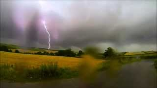 Clay Cross United Kingdom  city photos gallery : Slow Motion Lightning Strike 19th July 2014 Derbyshire UK - Clay Cross