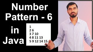 Number Pattern - 6 Program (Logic) in Java by Deepak