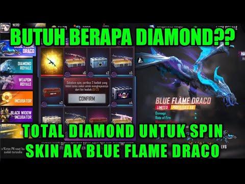 HABIS BERAPA DIAMOND UNTUK SPIN SKIN AK BLUE FLAME DRACO TERBARU ?? - FREE FIRE INDONESIA