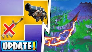*ALL* Fortnite Season 8 Changes! | Lava Vents, 5 Vaults, Cannon Ball Update!