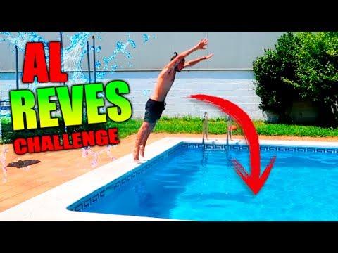 AL REVES CHALLENGE !! SALIENDO SECO DE UNA PISCINA !!