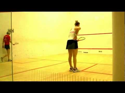 PSL squash final 2012 – Alison Waters and Laura Massaro + Joe Lee and Adrian Waller