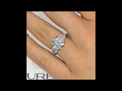 4.50 ct Round Diamond 3-Stone Engagement Ring
