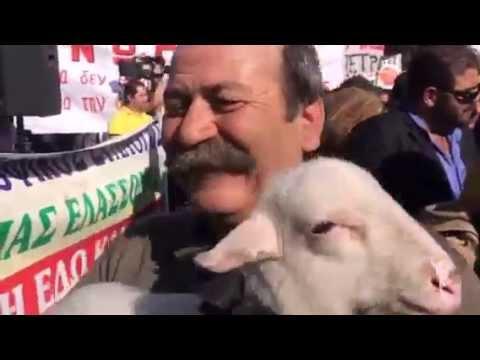 Διαμαρτυρία αγροτών στην πλατεία Συντάγματος