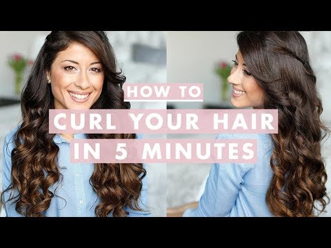 Hair - Want to curl your hair , but don't want to spend an hour doing it? In this video I will show you how you can curl your hair really fast. I'm wearing Luxy Hai...