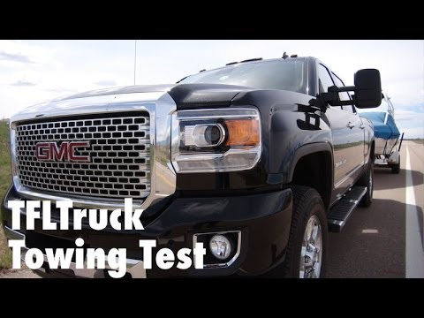 2015 GMC Sierra 3500 0-60 MPH Towing Test: And the fastest towing HD truck is…