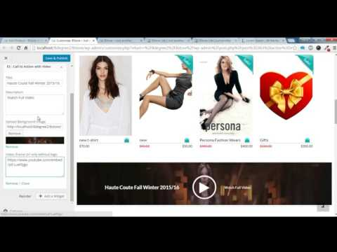 8Store Lite - How to create the home page section using widget